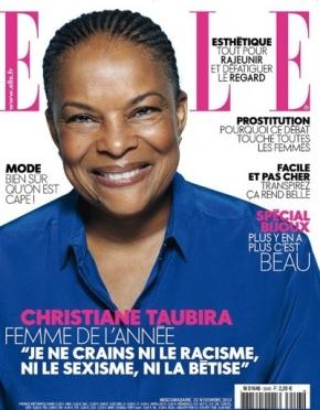 C'est ELLE! C. Taubira, femme politique de l'année…
